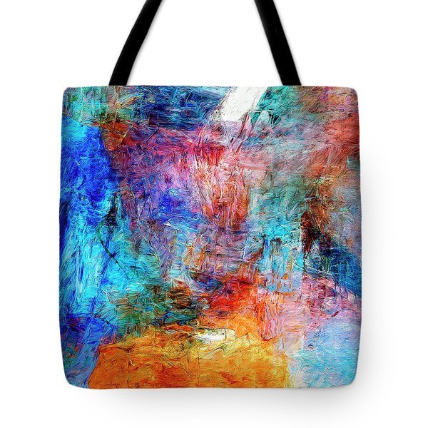 Tote Bag featuring the painting Convergence by Dominic Piperata