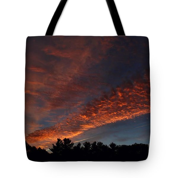 Tote Bag featuring the photograph Converging On Sunset by Kenny Glotfelty