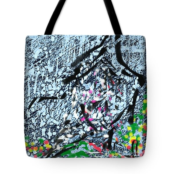 Conversation Between Birds And Leafs Tote Bag