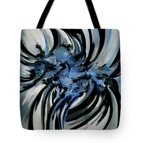 Conversation With Blue Poetry Tote Bag