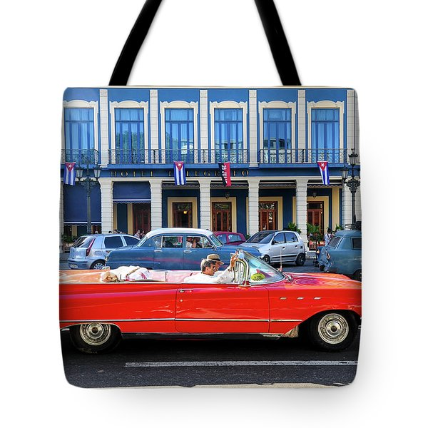 Convertible With Long Tailfins Tote Bag