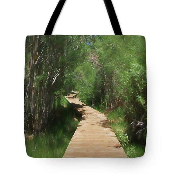 Tote Bag featuring the photograph Convict Lake Loop Trail by Donna Kennedy