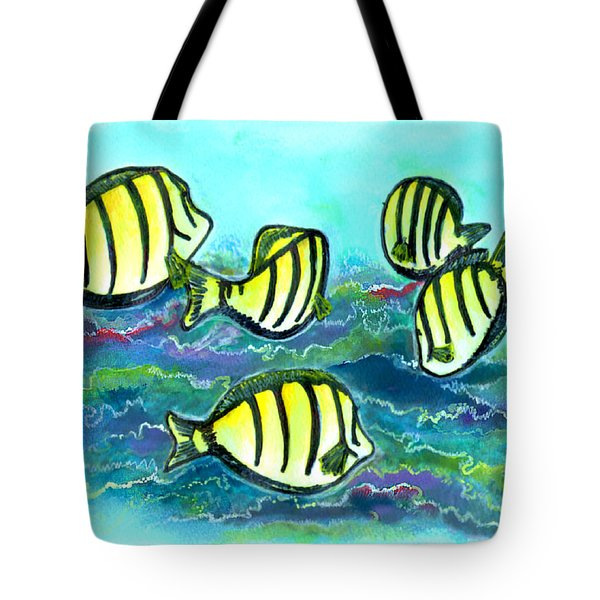 Convict Tang Fish #209 Tote Bag by Donald k Hall