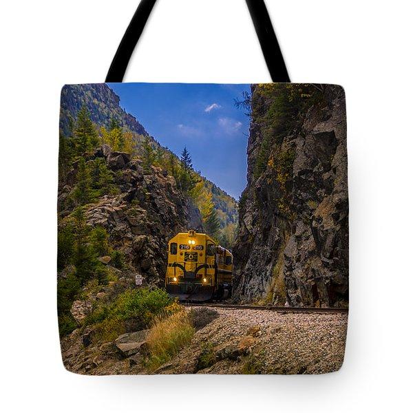 Conway Scenic Railroad Notch Train. Tote Bag
