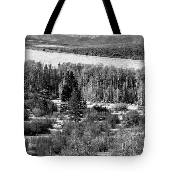 Tote Bag featuring the photograph Conway Summit In Winter by Jan Davies
