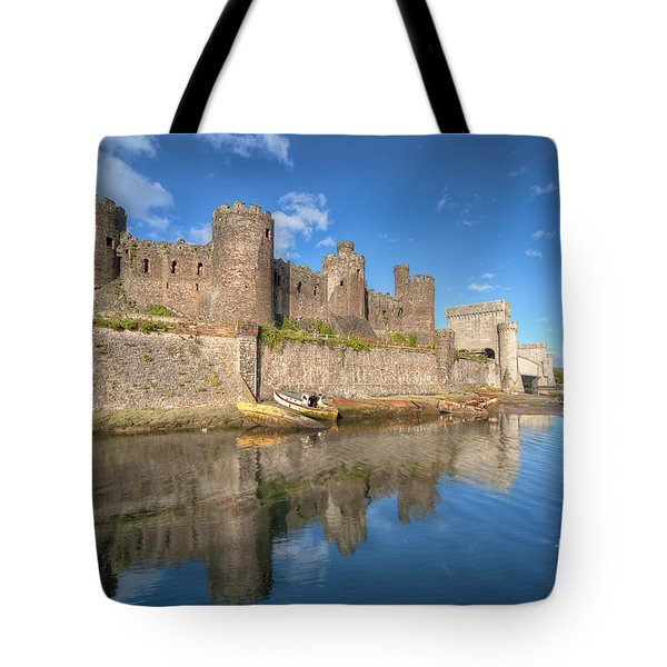 Conwy Castle Tote Bag by Adrian Evans
