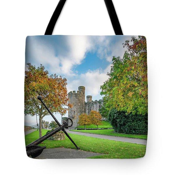 Conwy Castle Autumn Tote Bag