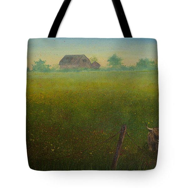 Tote Bag featuring the painting Peekaboo Coo by Elizabeth Mundaden