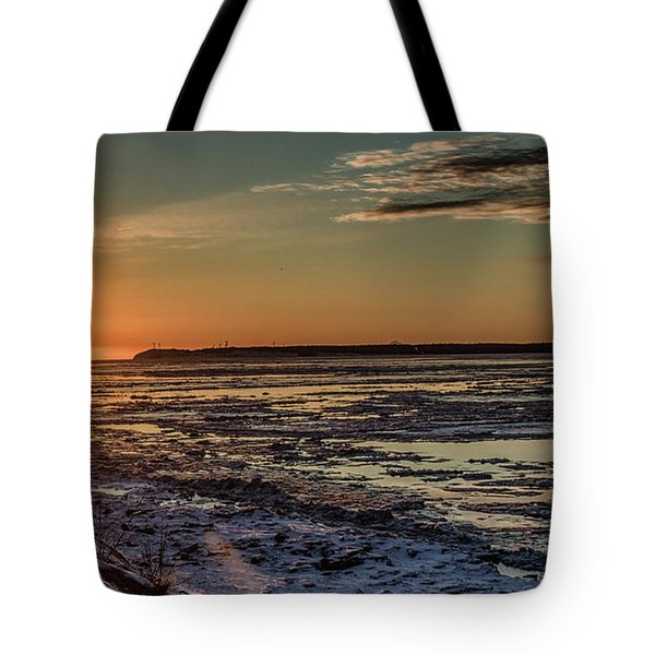 Tote Bag featuring the photograph Cook Inlet Sunset Alaska  by Michael Rogers