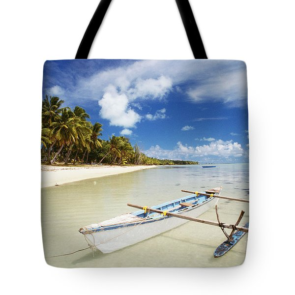 Cook Islands, Aitutaki Tote Bag by Bob Abraham - Printscapes