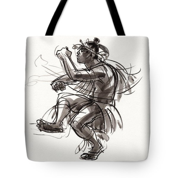 Cook Islands Male Dancer Tote Bag