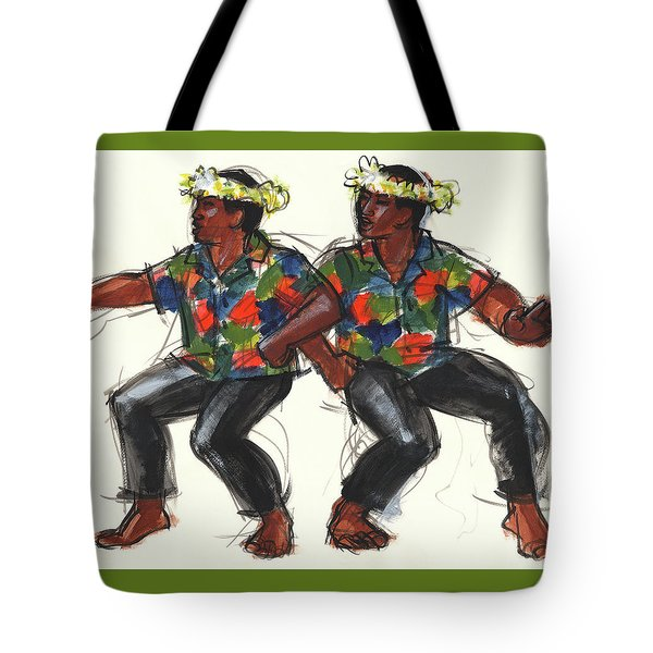 Cook Islands Ute Dancers Tote Bag