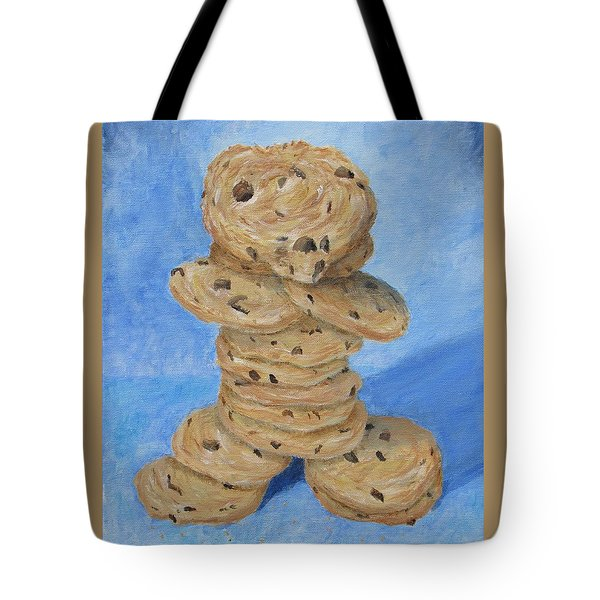 Tote Bag featuring the painting Cookie Monster by Nancy Nale