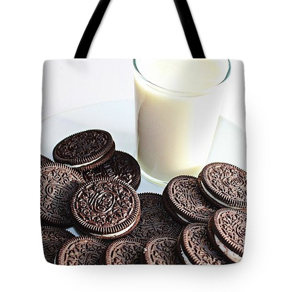 Cookies And Milk Tote Bag by Barbara Griffin