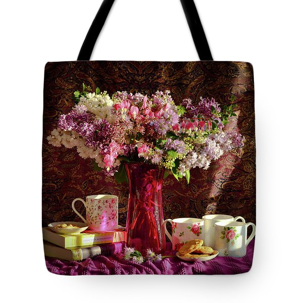 Cookies, Coffee And Comfort Tote Bag by Wendy Blomseth