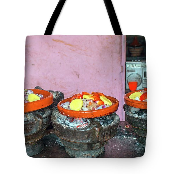 Cooking Tajine On Coal  Tote Bag