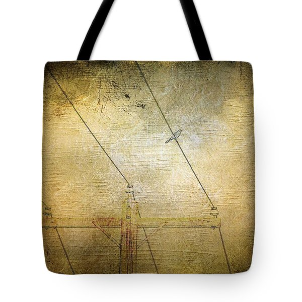 Cool Bird On A Hot Wire Tote Bag by Jan Amiss Photography