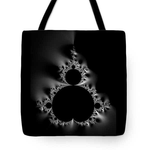Cool Black And White Mandelbrot Set Tote Bag