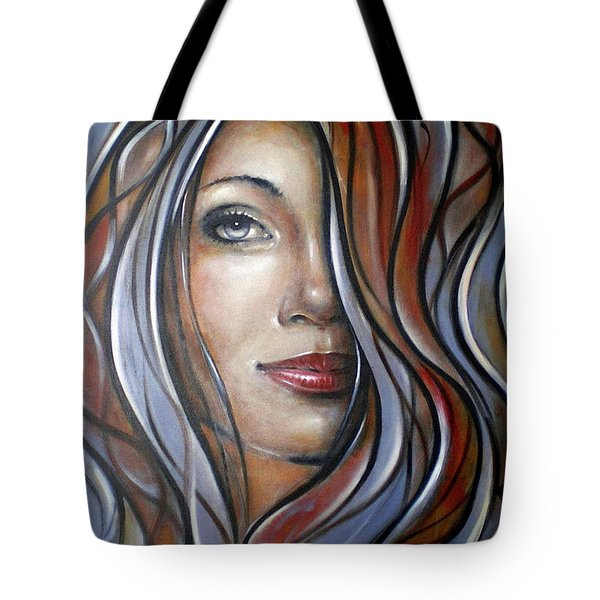 Cool Blue Smile 070709 Tote Bag by Selena Boron