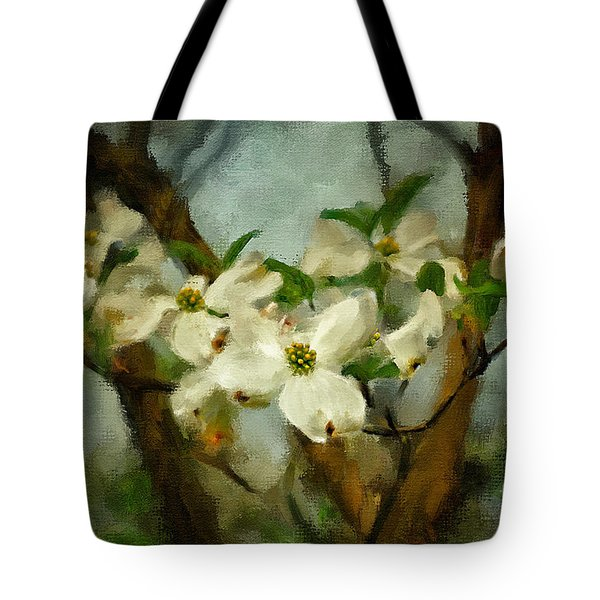 Cool Breeze Painterly Tote Bag