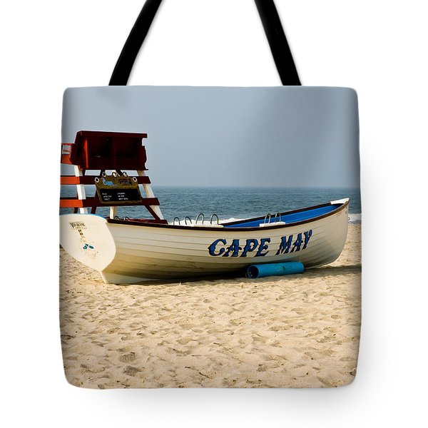 Tote Bag featuring the photograph Cool Cape May Beach by Louis Dallara