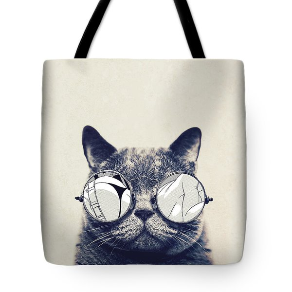 Cool Cat Tote Bag by Vitor Costa