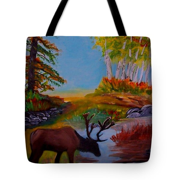 Tote Bag featuring the painting Cool Drink by Leslie Allen