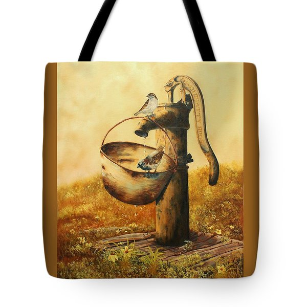 Cool Drink Of Water Tote Bag