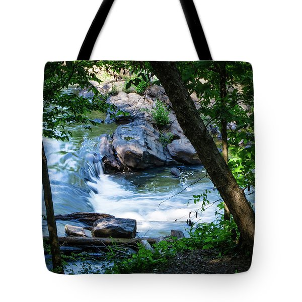 Cool Mountain Stream Tote Bag
