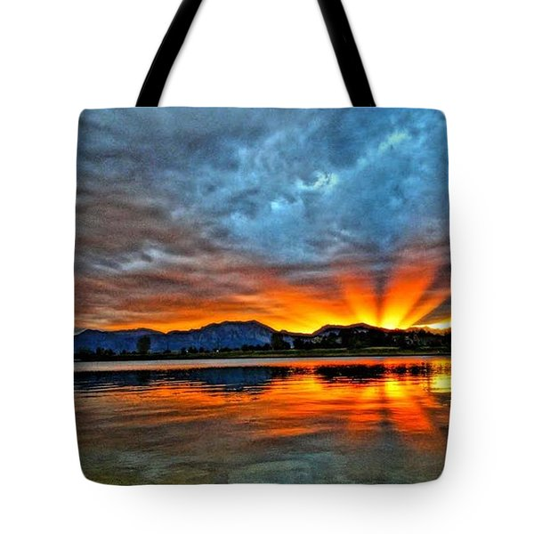 Tote Bag featuring the photograph Cool Nightfall by Eric Dee
