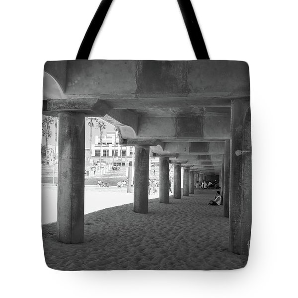 Tote Bag featuring the photograph Cool Off In The Shade Of The Pier by Ana V Ramirez