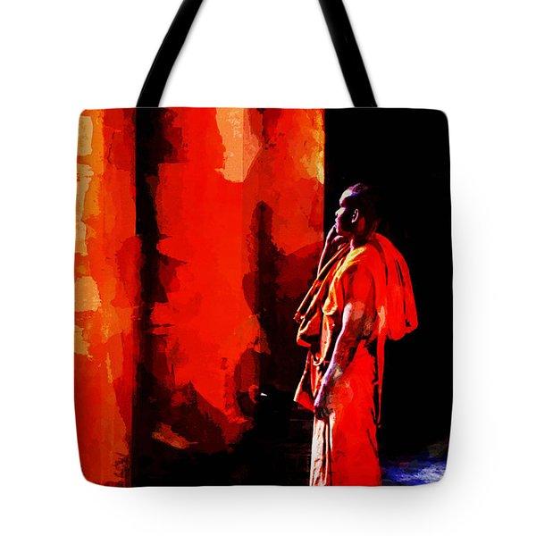 Cool Orange Monk Tote Bag