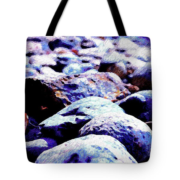 Tote Bag featuring the photograph Cool Rocks- by JD Mims