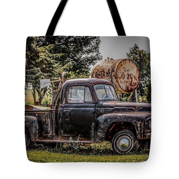 Cool Truck On A Hot Day Tote Bag by Ray Congrove