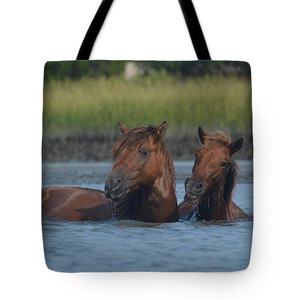 Cool Water, Nice Smile Tote Bag
