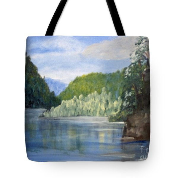 Tote Bag featuring the painting Cool Water by Saundra Johnson