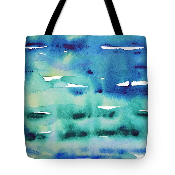 Tote Bag featuring the painting Cool Watercolor by Jocelyn Friis