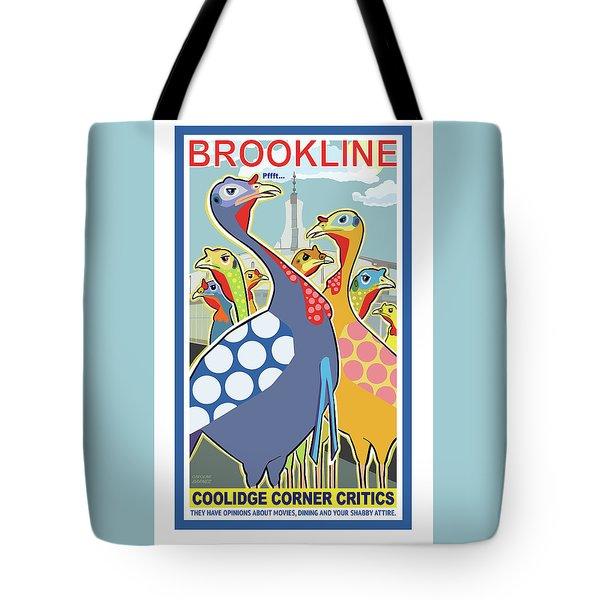 Coolidge Corner Critics Tote Bag