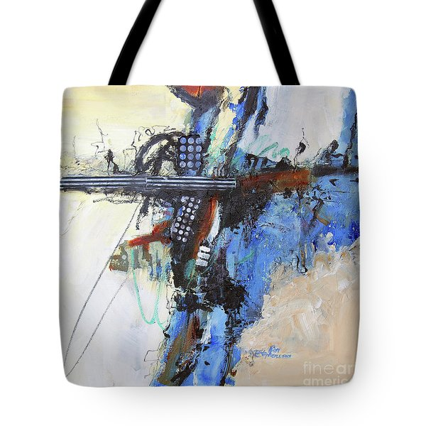 Coolly Collected Tote Bag by Ron Stephens