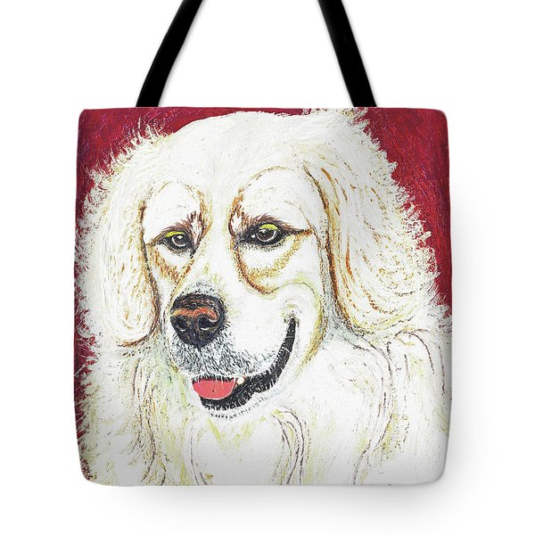 Tote Bag featuring the painting Cooper II by Ania M Milo