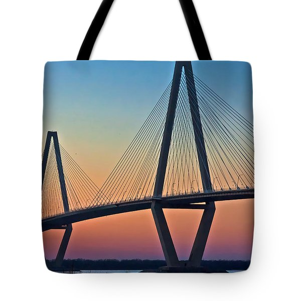 Cooper River Bridge Sunset Tote Bag