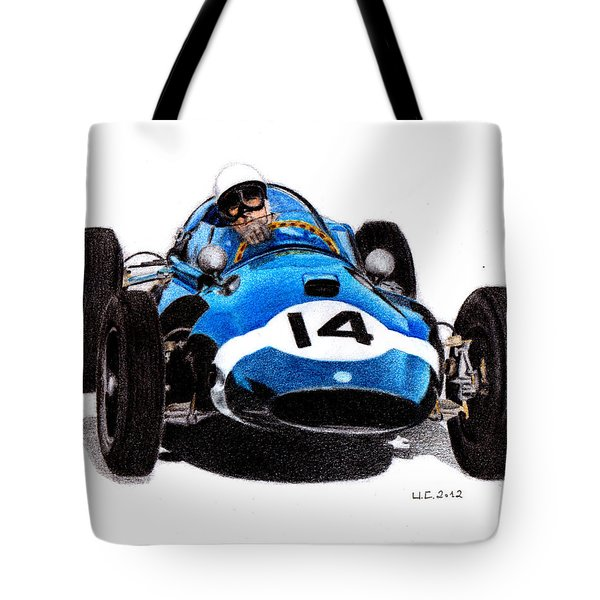 Cooper T51 Stirling Moss 1959 Tote Bag by Ugo Capeto