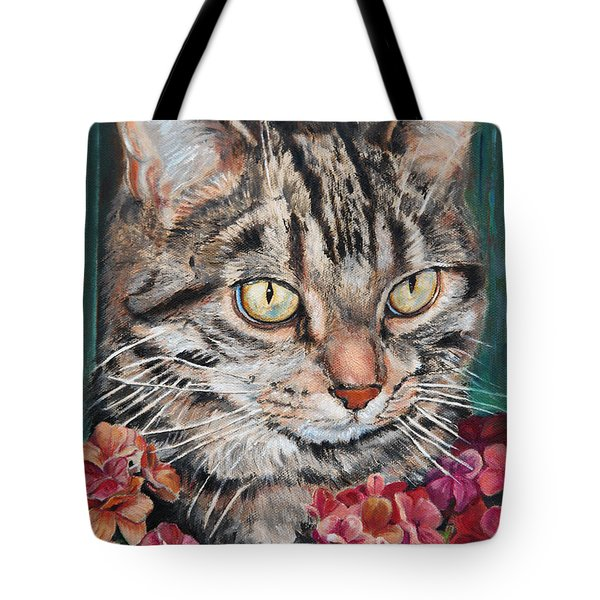 Cooper The Cat Tote Bag by Enzie Shahmiri