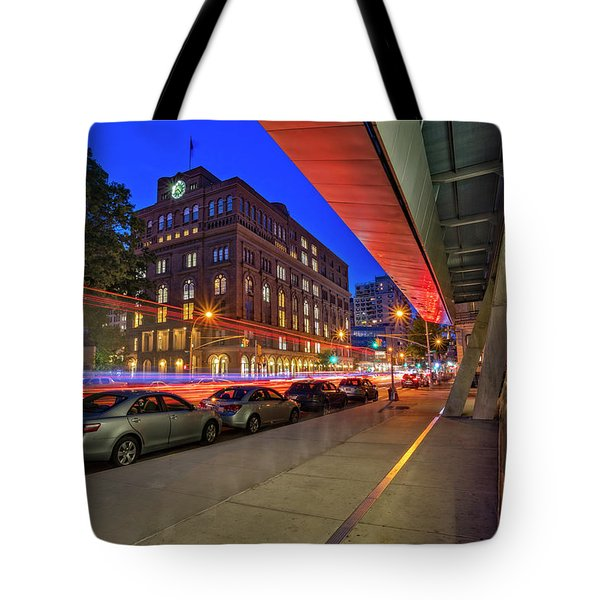 Tote Bag featuring the photograph Cooper Union Nyc by Susan Candelario