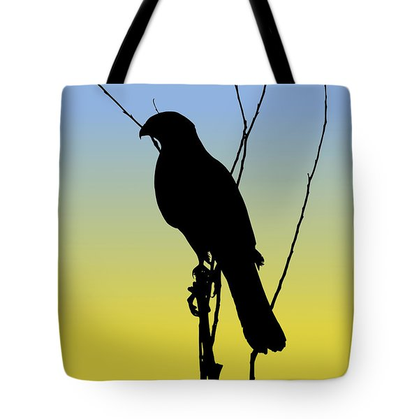 Coopers Hawk Silhouette At Sunrise Tote Bag