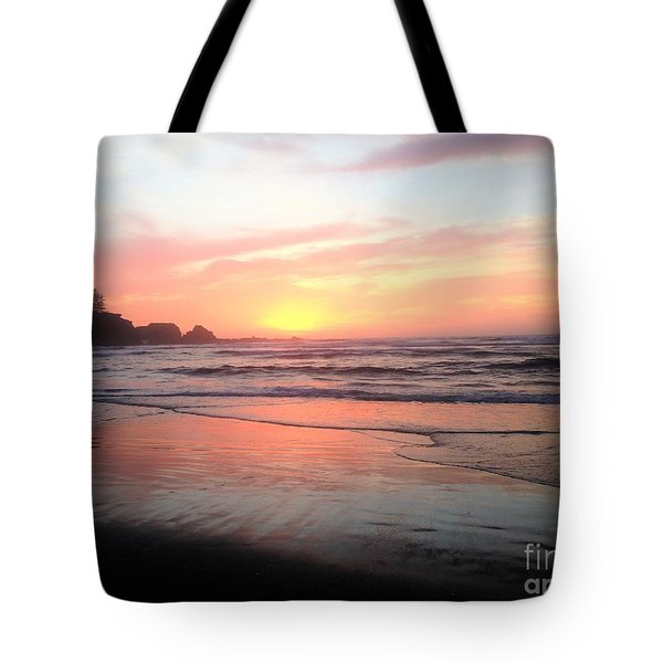 Tote Bag featuring the painting Coos Bay by Linda Shackelford