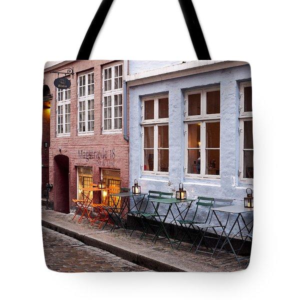 Copenhagen Patio Tote Bag by Rae Tucker