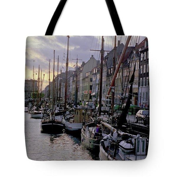 Copenhagen Quay Tote Bag