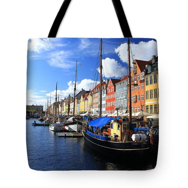 Copenhagen Ships Tote Bag by Sabine Meisel