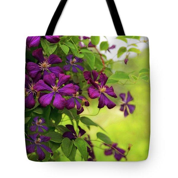 Copious Clematis Tote Bag